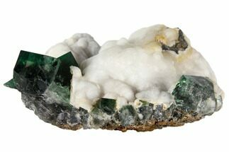 Fluorite & Quartz - Fossils For Sale - #132987