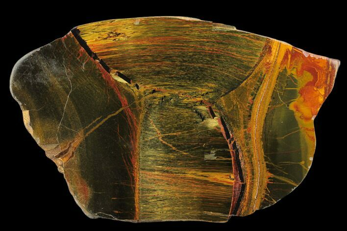 "4.5"" Marra Mamba Tiger's Eye Slab - Mt. Brockman (2.7 Billion Years)"