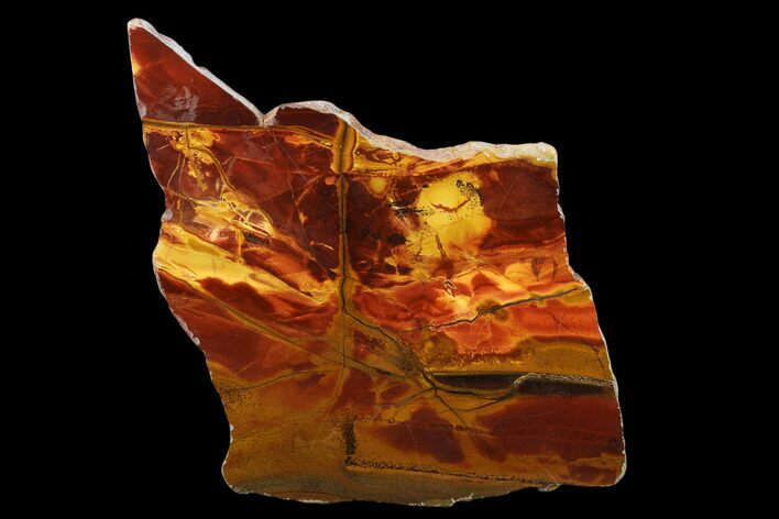 "6.2"" Marra Mamba Tiger's Eye Slab - Mt. Brockman (2.7 Billion Years)"