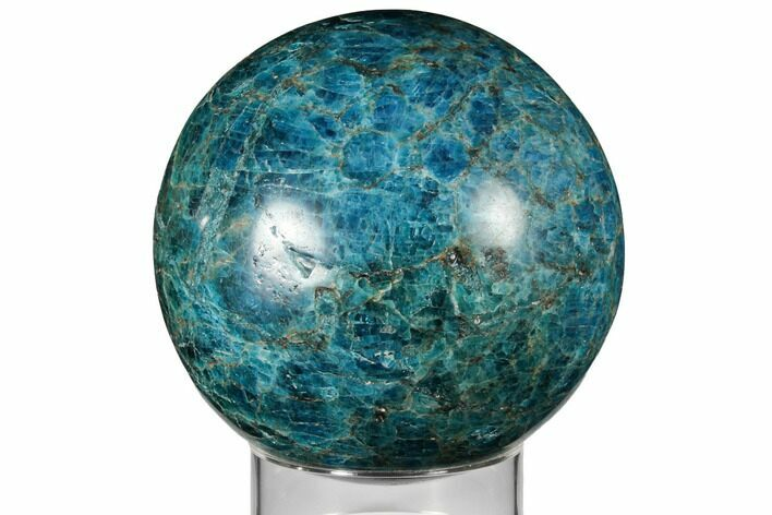 "4.9"" Bright Blue Apatite Sphere - Madagascar"