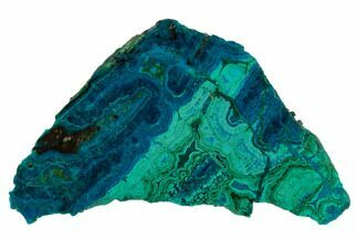"Buy 2.4"" Polished Chrysocolla & Plume Malachite - Bagdad Mine, Arizona - #133615"