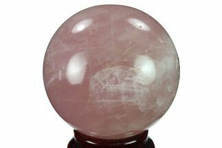 "2.4"" Polished Rose Quartz Sphere - Madagascar For Sale, #133778"