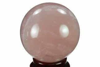 "2.35"" Polished Rose Quartz Sphere - Madagascar For Sale, #133781"