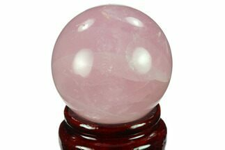"Buy 1.75"" Polished Rose Quartz Sphere - Madagascar - #133825"