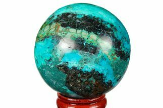 "Buy 1.75"" Polished Chrysocolla Sphere - Peru - #133747"