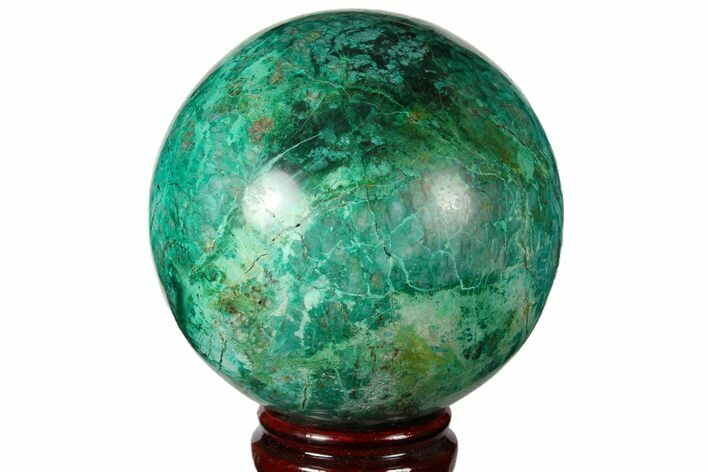 "4.1"" Polished Chrysocolla & Malachite Sphere - Peru"
