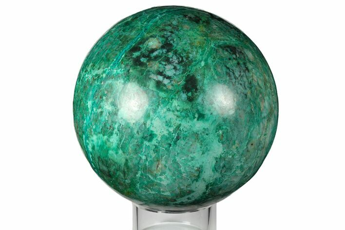 "4.9"" Polished Chrysocolla & Malachite Sphere - Peru"