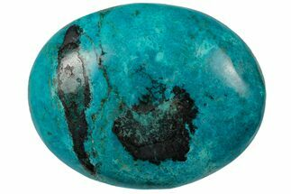 "3.1"" Polished Chrysocolla Palm Stone - Peru For Sale, #133820"