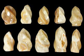"Wholesale Lot: 3-5"" Polished Calcite ""Flames"" - 10 Pieces For Sale, #133862"