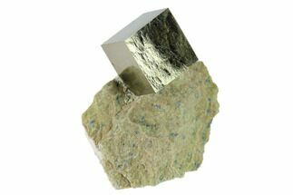 ".58"" Pyrite Cube In Matrix - Navajun, Spain For Sale, #132863"