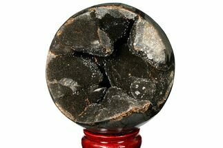 "4.4"" Polished Septarian Geode Sphere - Madagascar For Sale, #134645"