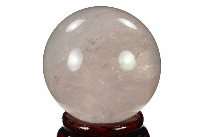 "2"" Polished Rose Quartz Sphere - Madagascar"