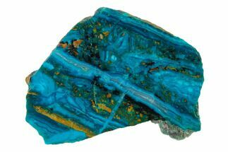 "2"" Polished Chrysocolla Slab - Bagdad Mine, Arizona For Sale, #136094"