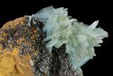 "7.2"" Blue Bladed Barite Crystal Clusters with Calcite   - Morocco - #136273-2"