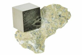 ".59"" Pyrite Cube In Matrix - Navajun, Spain For Sale, #136718"