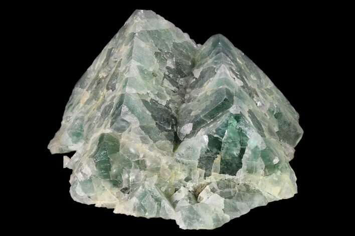 "7"" Green Fluorite Crystal Formation - Morocco"