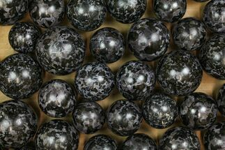 "Buy Wholesale Lot: 50 Indigo Gabbro Spheres - 1.5 - 2.2"" - #137956"