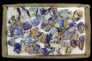 Buy Wholesale Lot: Azurite & Malachite Clusters - 50 Pieces - #137929