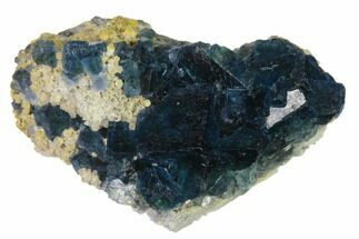 "2.9"" Cubic, Blue-Green Fluorite Crystals on Quartz - China For Sale, #138074"