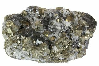 Pyrite, Sphalerite & Quartz - Fossils For Sale - #138153