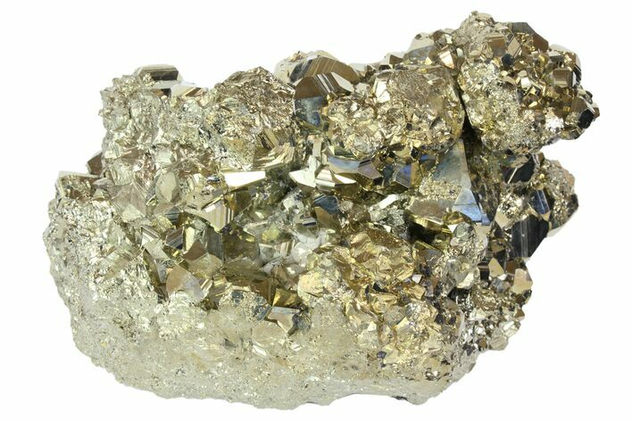 "4.6"" Pyrite Crystal Cluster with Sphalerite & Quartz Dusting - Peru"