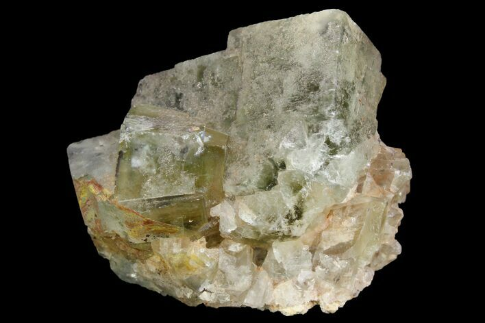 "1.5"" Light-Green, Cubic Fluorite Crystal Cluster - Morocco"