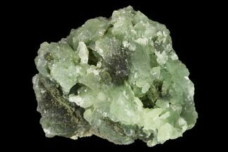 "Buy 2.1"" Green Prehnite Crystal Cluster with Epidote - Morocco - #138334"