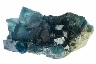 "4.4"" Cubic, Blue-Green Fluorite Crystals on Quartz - China For Sale, #139754"