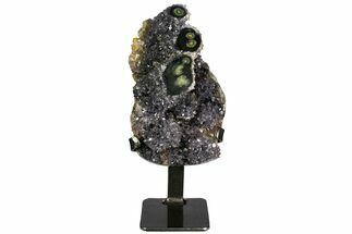 "7""  Amethyst Geode Section on Metal Stand - Uruguay For Sale, #139823"