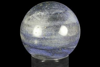 "Buy Large, 6"" Polished Dumortierite Sphere - Madagascar - #140965"