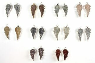 Buy Wholesale Lot: Druzy Quartz Pendants/Earrings - 10 Pairs - #140827
