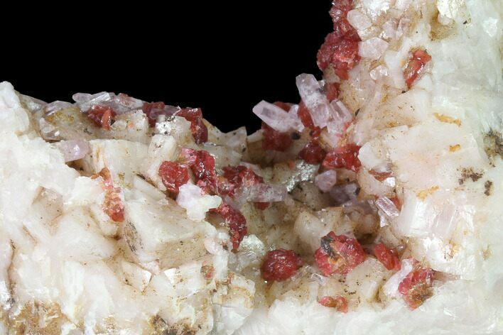 "2.9"" Roselite Crystal Clusters and Calcite on Dolomite - Morocco"