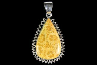 Buy 20 Million Year Old Fossil Coral Pendant - Sterling Silver - #142279