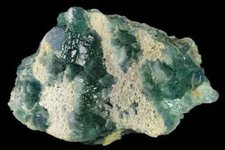 "Buy 3.7"" Stepped Green Fluorite Crystals on Quartz - China - #142474"