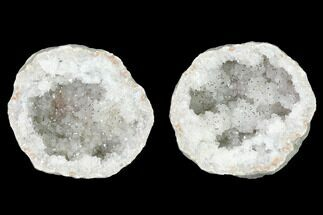 "3.7"" Keokuk Quartz Geode with Filiform Pyrite - Iowa For Sale, #144719"