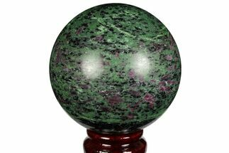 "3.15"" Polished Ruby Zoisite Sphere - Tanzania For Sale, #146030"