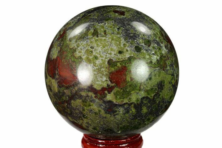 "2.4"" Polished Dragon's Blood Jasper Sphere - South Africa"