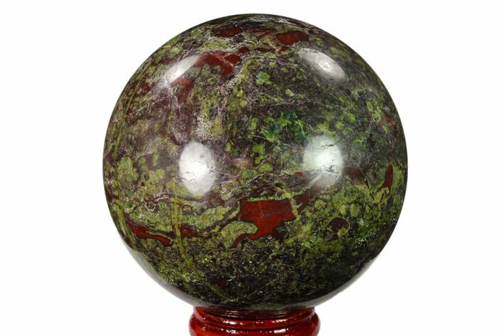 "2.6"" Polished Dragon's Blood Jasper Sphere - South Africa"