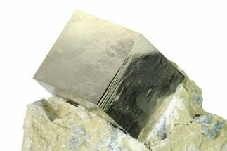 "Buy .90"" Natural Pyrite Cube In Rock - Navajun, Spain - #144043"