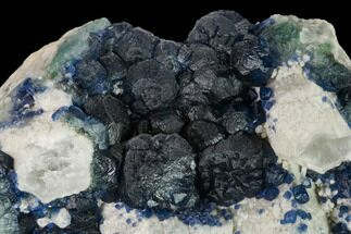 "Buy 4.8"" Dark Blue Fluorite on Quartz - Inner Mongolia - #146911"