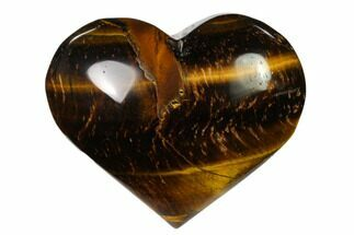 "Buy 2.85"" Polished Tiger's Eye Heart - #148762"