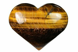 "3.1"" Polished Tiger's Eye Heart For Sale, #148763"