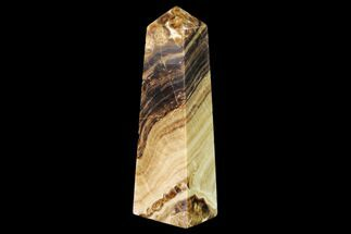 "Buy 6.2"" Polished Chocolate Calcite Tower - Pakistan - #149506"