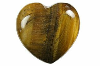 "Buy 1.2"" Polished Tiger's Eye Hearts - #150325"