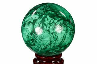 "Buy 2.75"" Flowery, Polished Malachite Sphere - Congo - #150244"