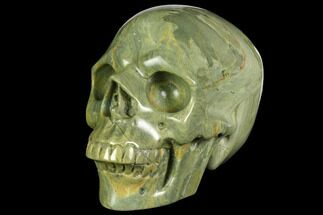 "Buy 4.95"" Realistic, Polished Butter Jasper Skull  - #150943"
