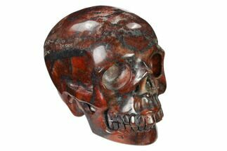 "Buy 3.1"" Realistic, Polished Red Picture Jasper Skull  - #150955"
