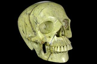 "6.9"" Realistic, Polished Butter Jasper Skull  For Sale, #151217"