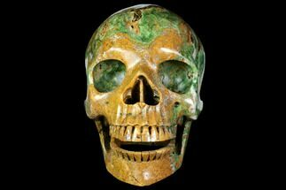 "Buy 6.9"" Realistic, Polished Autumn Jasper Skull  - #151219"