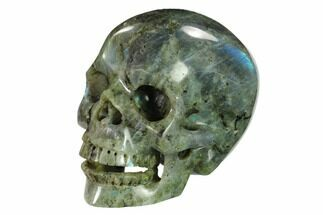 "5"" Realistic, Polished Labradorite Skull - Madagascar For Sale, #151178"